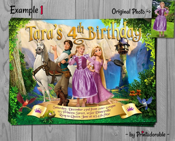 Tangled Invitation - Rapunzel Invite - Tangled Invite - Tangled - Rapunzel - Rapunzel Invitation - Disney Tangled - Tangled Birthday