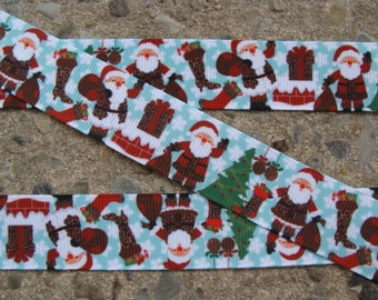 """7/8"""" Santa Claus Ribbon 3 yards Hair Bow Ribbon Christmas Ribbon Printed ribbon"""