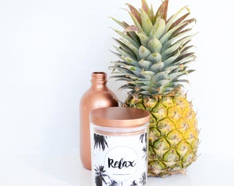 """Coconut Cream """"Relax"""" Hand Poured Soy Large Candle"""