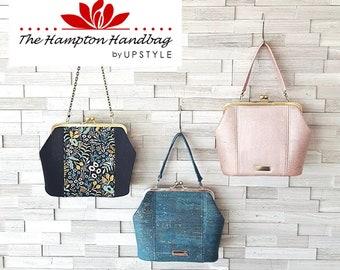 Hampton Handbag PDF Sewing Pattern- Full Size pdf Pattern and Tutorial by UPSTYLE - for craft, bag making, diy fashion