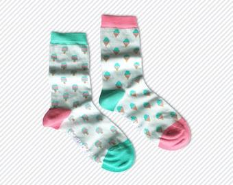 Women's Mismatched Ice Cream & Ice Pop Socks