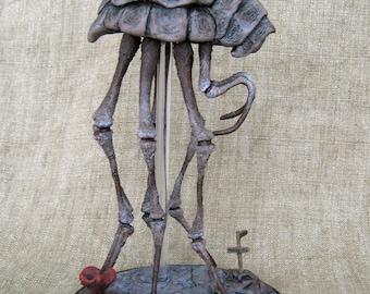 Silt Strider figurine (The Elder Scrolls III: Morrowind, Vvardenfell, Skyrim, ESO fantasy insect, mythical animal mount creature figure)