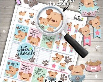 60%OFF - Dog Stickers, Printable Planner Stickers, Pet Stickers, Planner Accessories, Animal Stickers, Set Stickers, Functional Sticker