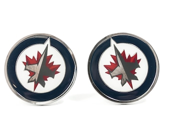 Winnipeg Jets Cuff Links -- FREE SHIPPING with USPS First Class Domestic Mail