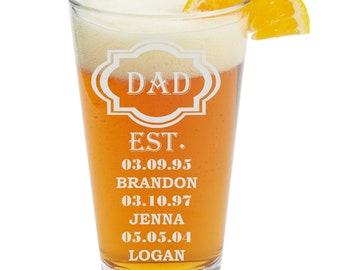 Perfect Gift for Fathers Day, Dad Beer Glass, Etched Dad Beer Glass, Dad Gift, Fathers Day Gift, Beer Glass, Dad, Fathers Day,Dad Birthday
