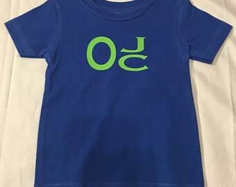 Boys monogram shirt