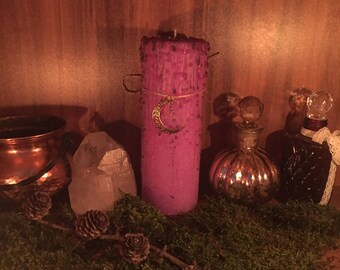 """Magic Candle """"Gypsie witch"""" Dragon Treasures Ritual Candle Altar candle Candlemagick Occult Wicca Pagan Witchcraft"""