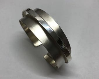 Bangle Elevated Band in Sterling Silver