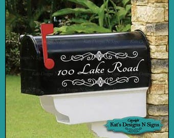 Personalized set of 2 matching mailbox decals!  MAI-00004