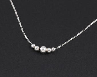 Beginnings Multi Ball Necklace - Silver Silver (Colour) HO36W