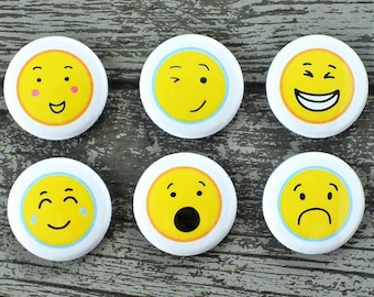 Emoji Faces Flair Buttons, Scrapbooking Flair Badges, Flat Back Flair, Emoji Flair, Funny Faces Flair, Cute Flair, Pocket Scrapbooking