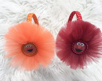 Sesame Street headbands- elmo headbands- big bird headbands - oscar the grouch headband- Sesame Street inspired headbands