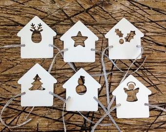 12 pcs-Napkin holder Christmas placeholder with ribbon