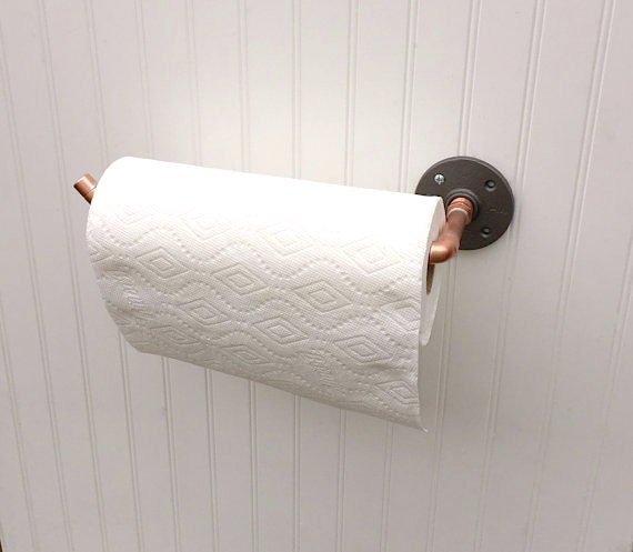 Items Similar To Copper Pipe Paper Towel Holder, Industrial Design,  Steampunk Design, Copper Kitchen Storage, Paper Towel Rack, Horizontal Wall  Mounted Rack ...