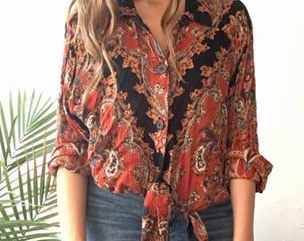 Paisley Oversized Shirt