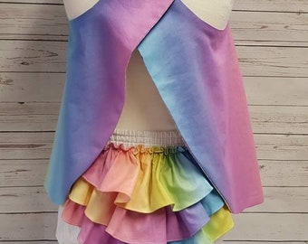 Unicorn Summer Dress and Matching Bloomers. Baby girl 12-18 month