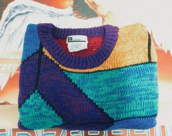 Vintage Multi-Color Sweater Size XL