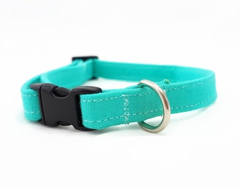 "Cat Collar Breakaway - ""Swimming Pool"" - Turquoise Blue - Safety Cat Collar - Summer Cat Collar - Bright Cat Collar - Safe/Soft/Durable"