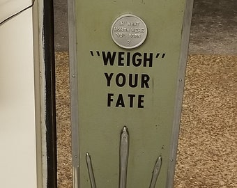 Vintage American Mfg Scale Company Washington DC Weigh Fortune Fate 1 Cent Weight