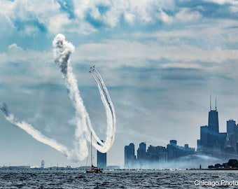 Chicago Photography | Chicago Air and Water | Airshow | Wall art | Photography | City Skyline | Fine art photography | Summer | Art Print