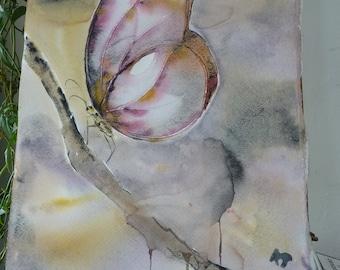 Original Watercolour: Butterfly light