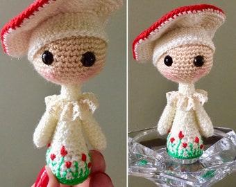 Handmade/ Crocheted Amanita Muscaria Doll