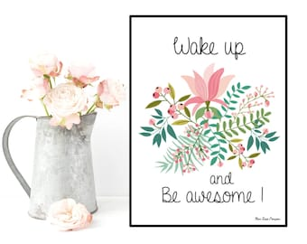 Poster quote, Inspirational quote, Motivational print, Typography quote, Positive quote, Black & white, Wall art decor, Printable wall