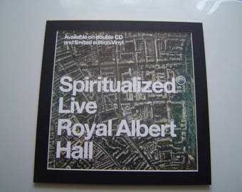 Spiritualized Live At The Royal Albert Hall Original Poster in A Custom Made Mount Ready To Frame
