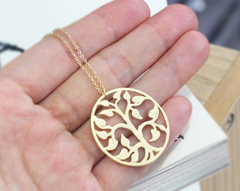 """family tree necklace, mothers day, tree of life jewelry, 24"""" long necklace, tree necklace"""