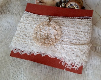 Antique Wedding Lace, Off White Vintage Lace Scalloped Flounce Border Trim - Vintage Wedding Period Costume Dolls & Bears - 6m Old Stock