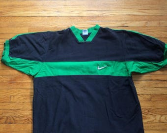 Vintage Nike Two Colored Oversize Nike Swoosh T-Shirt