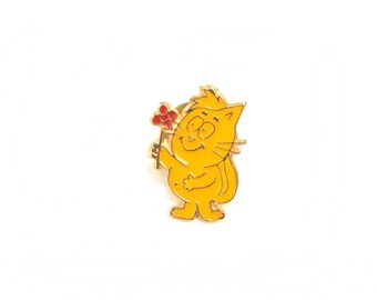 Cat,cute cat pin, cat enamel pin, cat lapel pin, cat illustration pin, cat lapel badge, cat enamel brooch, cat enamel badge