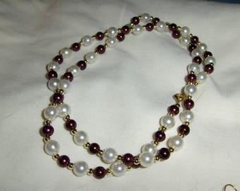 Glass Pearls Shades of Red and Pink necklaces