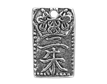 3 TierraCast Tiny Nisshu 1/2 inch ( 13 mm ) Silver-Plated Pewter Drop Charm