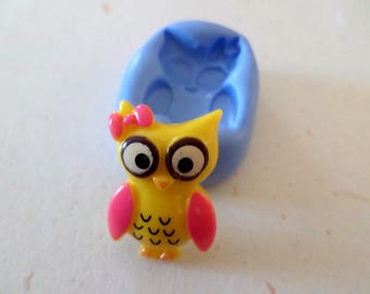 New! Mold to create pretty Owl 2cm