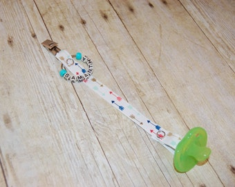 Pacifier Clip, Arrow 2, Personalization Available, Ready to Ship, Free USA Shipping