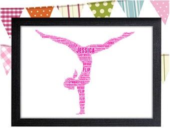 Personalized Gift Gymnastics Gift Wall Art Wall Prints Wall Art Wall Decor Gift For Her Gift For Girl Personalised Gift Wall Art Prints