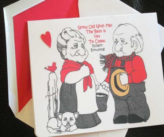 Valentine funny anniversary card birthday card grandparents valentine funny anniversary card birthday card grandparents anniversary card wifes birthday red white envelope is lined in red bookmarktalkfo Image collections