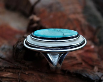 Turquoise and Ivory Statement Ring