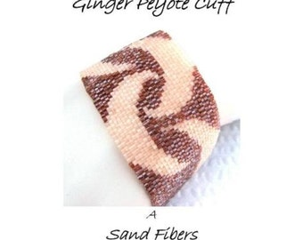 Peyote Pattern - A Dance in Peach and Ginger Peyote Cuff / Bracelet - A For Personal Use Only PDF Pattern - 3 for 2 Savings Program