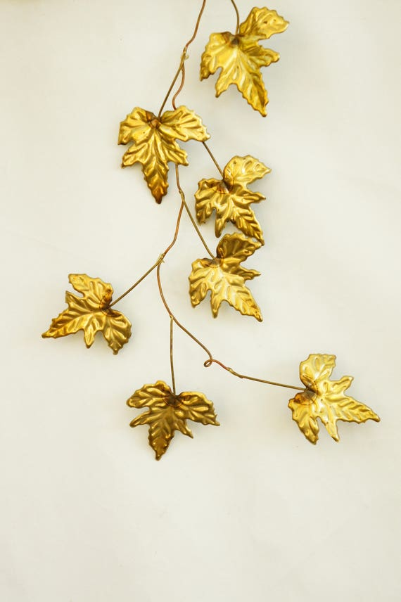 Attractive Brass Leaves Wall Decor Picture Collection - Wall Art ...