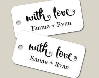 Personalized Mini Tags Wedding Tags, Personalized Tags, Custom Wedding Tags, Gift Tags, Personalized, Custom Tags - Set of 25