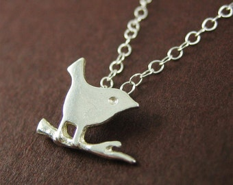 Silver Bird Necklace Cute Everyday Necklace Minimalist Jewelry Sale Birthday Gift