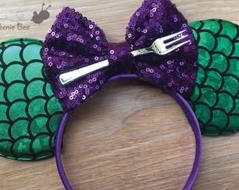 Adult Ariel Ears - Mermaid Minnie Ears - Mermaid Mickey Ears - Mermaid Mouse Ears - Adult Disney Ears