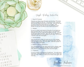 Dark and Stormy Watercolor MONAT washing instructions for samples, marketing