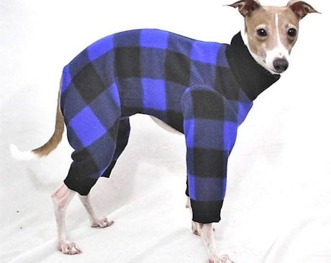 "Dog Pajamas. ""Blue Buffalo Plaid Jams"" - Italian Greyhound and small dog sizes"