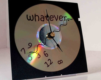 Laser Etched Whatever Clock