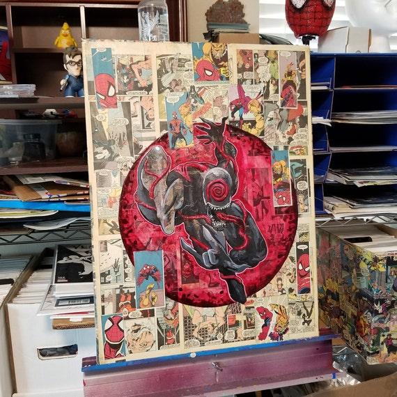 Venom Possession Acrylic Original Painting