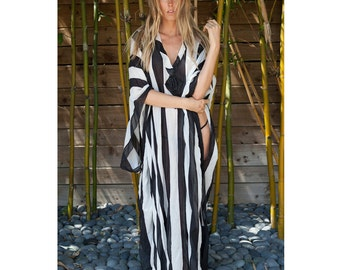 Striped caftan