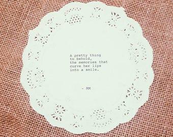 Pretty Memories Typewriter Doily